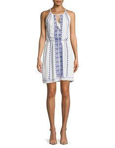 DEXEmbroidered Cotton Dress