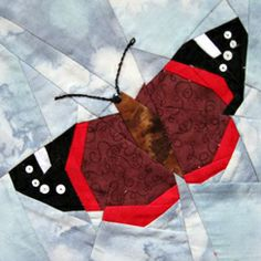 Claudias Quilts ~ Big Quilt of Nature ~ Admiral / Red Admiral