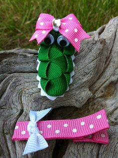 Alligator hair clip,  It looks a little like Dorothy the Dinosaur from the Wiggles actually :)