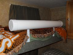 diy bed rail for top bunk and with hollow Pvc tube it could add storage