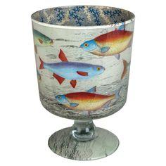Decoupage petite cache pot...John Derian Company Inc — School of Fish