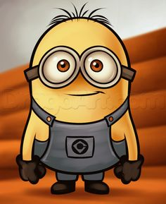 how to draw a minion from despicable me, grus minions