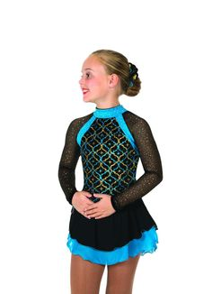 New Jerrys Competition Skating Dress 62 Tint of Turquoise Dress Made on Order | eBay