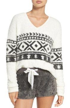 Main Image - Make + Model Fuzzy Lounge Sweater