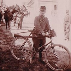WW1. Many French cycles from the late 1890s were still in service at the outbreak of WW1. With German occupation, the bicycles were impounded by the invaders. -The Online Bicycle Museum