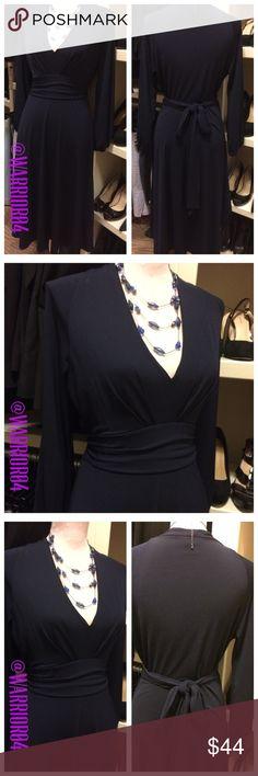 Navy Blue Moda International Tie Back Dress Navy Blue Moda International Tie Back Dress Size Medium Moda International Dresses