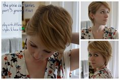 love this sequence of growing out a pixie, looks good the entire time!