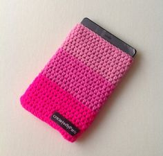 Handmade crochet Kindle cover, pink kindle sleeve, crocheted cover ereader
