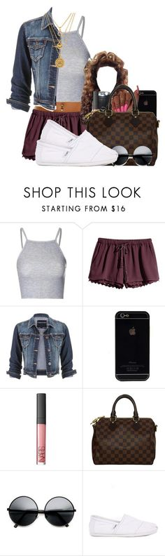"""700"" by tuhlayjuh ❤ liked on Polyvore featuring Glamorous, H&M, maurices, Louis Vuitton, ZeroUV, TOMS and Juicy Couture"
