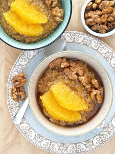 Spiced Orange Tea Oatmeal with Candied Walnuts | The Breakfast Drama Queen