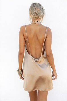low back or open back would be pretty and still tasteful.