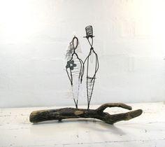Wire Sculpture Wedding Gift.