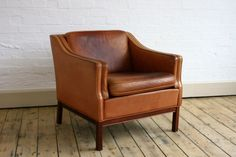 leather and timeless-mine is older, more worn and will have a slip cover on it, but this is the chair style for the room Home Decor Furniture, Unique Furniture, Home Decor Bedroom, Furniture Design, Tan Leather Armchair, Brown Leather Chairs, Colorful Apartment, Vintage Chairs, Home Buying