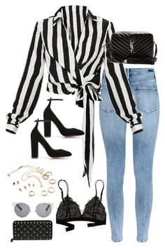 """Sem título #5351"" by fashionnfacts ❤ liked on Polyvore featuring H&M, Aquazzura, Yves Saint Laurent, Madewell, Christian Dior and Valentino"