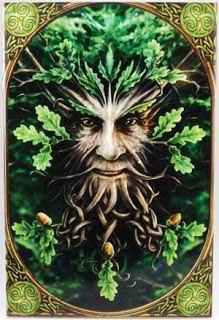 """ARDDHU -> O """"Escuro"""" no folclore galês, que representa Green Man, o Deus da natureza - o Grande Corvo Divino - uma divindade que habitava as matas e as florestas. Deus dos bosques e animais, da fertilidade e da renovação. É representado por um homem com o rosto todo coberto por folhas verdes, descrito no romance Arthuriano em """"Sir Gawain e o Cavaleiro Verde""""."""