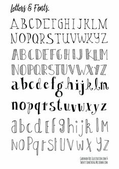 How To Hand Letter Free Bullet Journal Hand Lettering Alphabet within Handlettering Letters Bullet Journal Alphabet, Bullet Journal Police, Bullet Journal Printables, My Journal, Bullet Journal Inspiration, Hand Lettering Fonts, Doodle Lettering, Creative Lettering, Typography