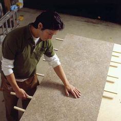 Awesome tutorial for installing new laminate on the countertops, very helpful for the pop up reno!