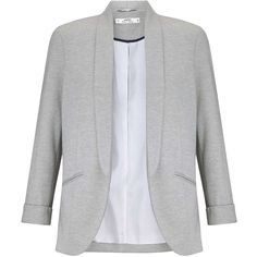 Miss Selfridge Petites Grey Blazer Jacket ($68) ❤ liked on Polyvore featuring outerwear, jackets, blazers, grey, petite, petite jackets, grey jersey blazer, petite blazer, blazers jersey and gray blazer