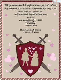 medieval wedding invitations Google Search Medieval Wedding