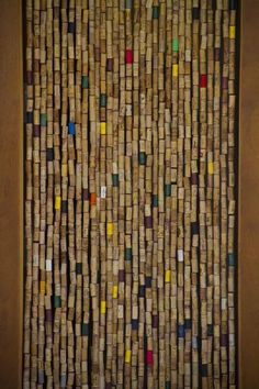 A cork curtain: I will do this.