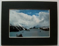 $16.99  Winter Mountain Snow Scenic Colour Photograph Untitled BY Unknown Artist | eBay #photography #snow #winter #mountain