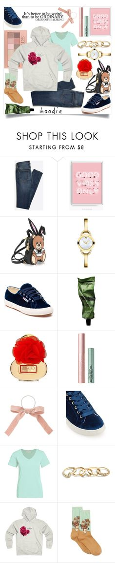 """Hoodie mood"" by mariyushka ❤ liked on Polyvore featuring Maybelline, Moschino, Movado, Superga, Aesop, Too Faced Cosmetics, Miss Selfridge, GUESS, HOT SOX and Hoodies"