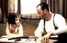 Young Natalie Portman and Jean Reno in The Professional (Luc Besson, 1994)
