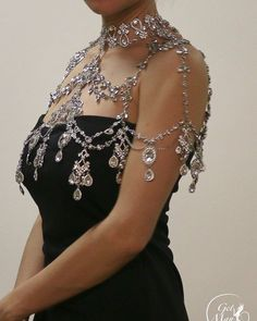 Beauty Of Bridesmaid Jewelry Shoulder Jewelry, Shoulder Necklace, Cute Jewelry, Body Jewelry, Jewellery, Bridesmaid Jewelry, Bridal Jewelry, Fantasy Jewelry, Beautiful Gowns