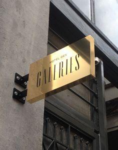 Signage Hotel des Galeries, Brussels Belgium