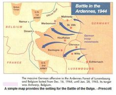 Battle of the Bulge, Ardennes (1944) | Maps and Charts ...