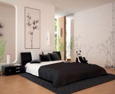 Decoración habitación en blanco y negro