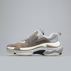 f54d3d3371f9 Balenciaga Triple S Trainer Brown White Balenciaga For Sale Big Boys  Youth Jeunesse Shoes