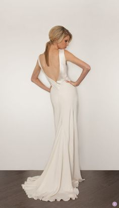 I like the simplicity and the cut in the back! Wedding Dress | Sarah Janks Cassandra