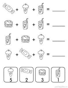 Mental Maths Worksheets, Preschool Number Worksheets, Fun Worksheets For Kids, Numbers Preschool, Brain Gym Exercises, Visual Perceptual Activities, English Activities For Kids, Kindergarten Reading Activities, Phonics Rules