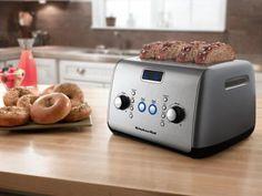 Torradeira KitchenAid Cinza KJC04AFANA - 7 Níveis de Tostagem Função Descongelar com as melhores condições você encontra no Magazine 233435antonio. Confira!