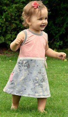 Süßes ärmelloses Sommerkleidchen für Kids aus Jersey - Schnittmuster und Nähanleitung via Makerist.de