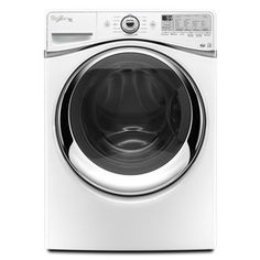 Whirlpool�Duet 4.3-cu ft High-Efficiency Front-Load Washer with Steam Cycle (White) ENERGY STAR $1199 Laundry Room Storage, Laundry Room Design, Laundry Rooms, Clean Washer, Gas Dryer, Laundry Appliances, Lowes Home, Front Load Washer, Thing 1