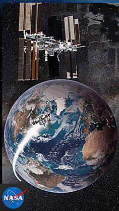 Estação Espacial à vista de todos