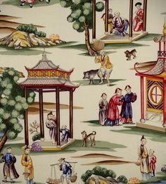 Scalamandre Shanghai fabric and wallpaper