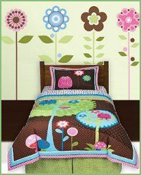 Image detail for -... Comforter Set-woodland style bedrooms-flower wall mural stickers