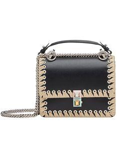 FENDI . #fendi #bags #shoulder bags #leather #rayon #
