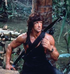 Rambo: First Blood Part II - Publicity still of Sylvester Stallone. The image measures 1799 * 1199 pixels and was added on 30 June Rocky Ii, Idris Elba, Rachel Mcadams, Colin Farrell, 80s Movies, Action Movies, Bradley Cooper, Silvestre Stallone, Rambo 2