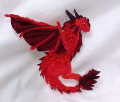 Kanzashi dragon, unique! | Tsumami wyvern by EruwaedhielElleth.deviantart.com on @DeviantArt