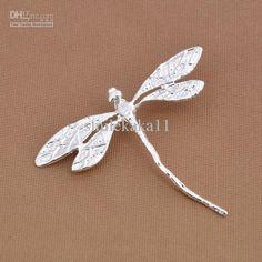 Wholesale Pendant - Buy Charm Pendant Vivid Dragonfly Pendant Fit Nice Bracelet/Necklace Fashion 925 Silver Jewelry, $1.05 | DHgate