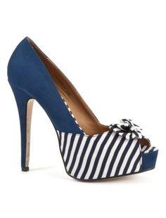 beauty style Navy Blue Toe Shoes 7671 |Navy Heels|