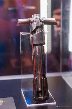 KYLO REN LIGHTSABER!!!  This one would be sooo sweet to build, it looks legit, scary, and really beat up so I don't have to be perfect in making it ;)