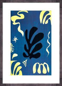 Composition Fond Bleu, 1951 Art Print by Henri Matisse at King & McGaw