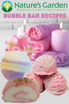 Free Bubble Bar Recipes from Natures Garden