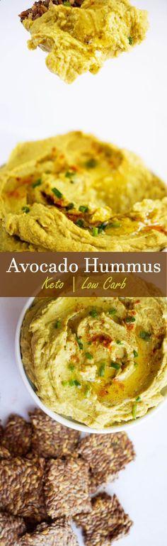 Creamy Avocado Hummus thats high in fat and fresh citrus