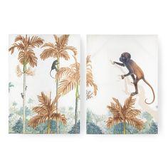 Art for the Home - Schilderij Set - Aapjes in de jungle - cm Moose Art, Images, Tapestry, Decoration, Prints, Painting, Animals, Home, Graham